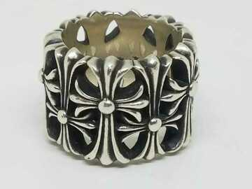 Other Item: (SOLD) Chrome Hearts 2003 Cemetery Cross Wide Heavy Band Ring 8