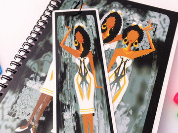 For Sale: Elegant Black Ladies - Wedding Gift Set. Notebook & FREE bookmark