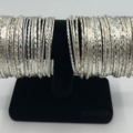 Buy Now: 50 Bangle Bracelets with Display - Sterling Silver Overlay