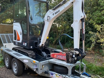 Daily Equipment Rental: Bobcat E19 with operator (Chelmsford area)
