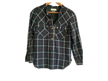 For Sale: ISABEL MARANT ETOILE: Checked Long Sleeve Tuscon Shirt