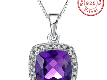 Buy Now: 925 STERLING SILVER NECKLACE AMETHYST