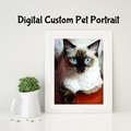 Selling with online payment: Digital Custom Pet Portraits