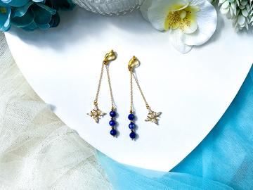 : Atrias Lapis Lazuli Drop Earrings