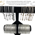 Buy Now: 120 pcs Assorted Bracelets with Display - Swarovski & Bangles