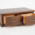 For Sale: FELTON Rustic Solid Wood 2 Drawer Coffee Table