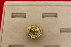 Buy Now: 6 pcs--  Nugget Coin Rings -14kt goldtone finish  $7.00 each