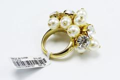 Buy Now: Dozen J.Crew Gold Pearl Cubic Zirconia Statement Rings $900 Value