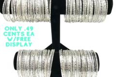 Buy Now: 200 Diamond Cut Bangle Bracelets -w Free Display