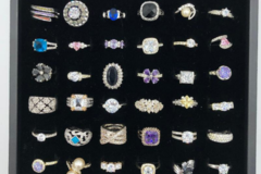 Buy Now: 36 pieces Womens CZ  Rings assorted sizes 6 thru 9