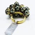 Buy Now: Dozen J.Crew Gold & Dark Pearl Cubic Zirconia Statement Rings