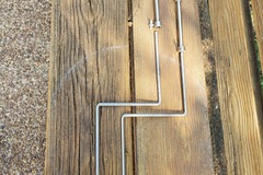 "Selling with online payment: vintage 1/4"" x15"" double bend arms with 6"" extensions"