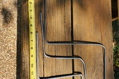 "Selling with online payment: 12 vintage 1/4"" arms for hoop or rail mount clamps/ trap table"