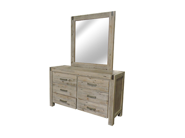 For Sale: MARY Sandblasting Solid Acacia Wood Dressing Table