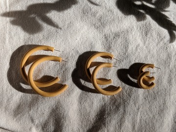 Selling: Mustard Hoops - in Small