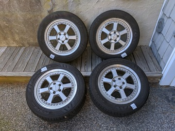 Selling: Tommy Kaira 16x7 5x100 with tires