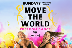 Group Session Offering: MOVE THE WORLD - Virtual Freedom Dance - SUNDAYS 5pm UK Time