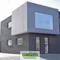 .: Modern halfopen bebouwing in houtskeletbouw I door Ecohuis