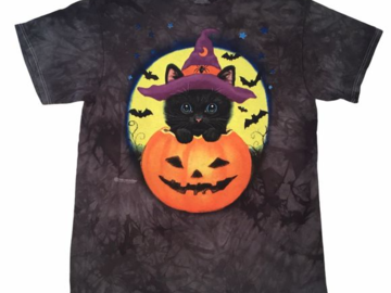Buy Now: The mountain Halloween Cat with Pumpkin T shirt Unisex