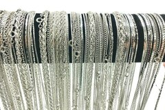 Buy Now: 72 Piece Chain Assortment Sterling Silver Finish -Free shipping!