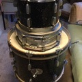 Selling with online payment: Rogers two drums Holiday Mardi Gras 1962 vintage + snare drum