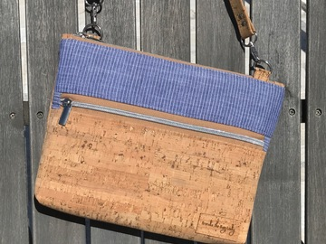 Selling with online payment: Denim and Cork Double Zip Crossbody Purse