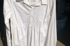 Buy Now: Maternity Tops Isabel Fresh White Peplum Hem Shirts Asst Sizes