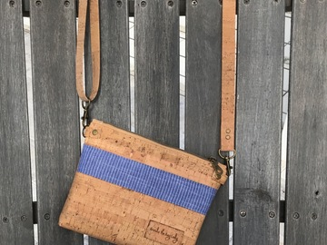 Selling with online payment: Denim and Cork Small Crossbody/Wristlet Purse