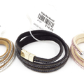 Buy Now: Dozen Robert Rose Triple Wrap Suede Leather Bracelets