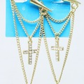 Buy Now: Dozen New Gold & Silver Spike & Rhinestone Cross Earrings