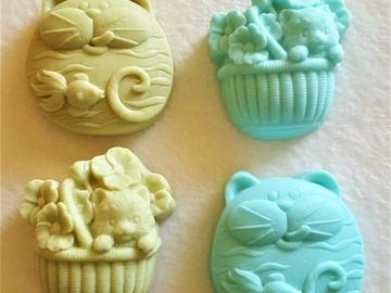 """Selling with online payment: Detergent-Free Coconut Milk """"Kitten"""" Soaps"""