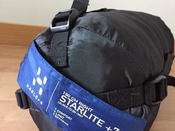 Hyr ut (per day): Haglöfs starlite +7 makuupussi