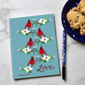 Selling with online payment: Cute Notebook with Cardinals