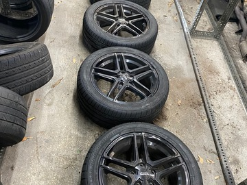 Selling: American racing gloss black 5 spoke
