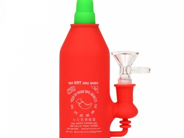 Post Now: Lit Silicone Chili Sauce Water Pipe Bong