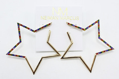 Buy Now: Dozen Neiman Marcus Star & Heart Gold Earrings $360 Value