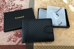 Buy Now: Casmonal Mens Leather Wallet Slim Front Pocket Wallet RFID BLOCK
