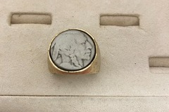 Buy Now: 8 pcs-- Genuine  Indian Head Buffalo Nickel Ring-- $6.00 each