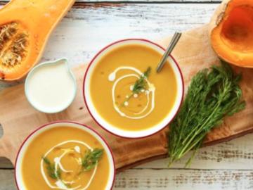 Partage: Butternut squash soup with chilli