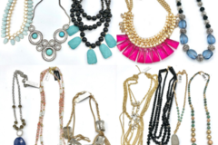 Buy Now: 12 High End Boutique Statement Necklaces priced 59.95 ea =$719.00