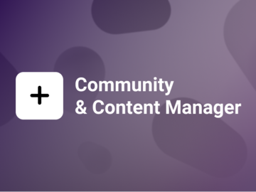 Selling Services (Per Month): Community and Content Manager