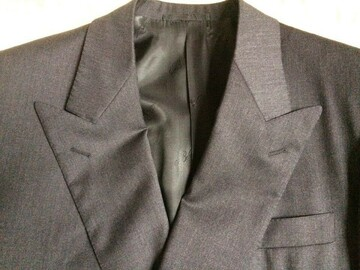 Online payment: BELVEST charcoal double breasted worsted Suit 38UK Reg