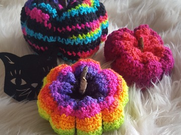 Selling with online payment: Colorful Funky Fun Pumpkins