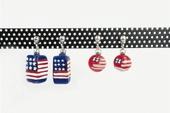 Buy Now: 20 pairs - Americana Flag Earrings- $2.50 pair-- 2 styles carded