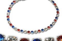 "Buy Now: 50 pcs-- Patriotic  7"" RED/WHITE/BLUE Bracelets--$1.99 each"
