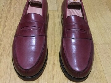 Online payment: Penny loafers Loding burgundy UK 7 / 41,5