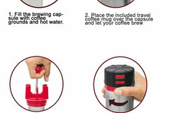 Buy Now: Versa Travel French Press – Reverse Groundless System- RED