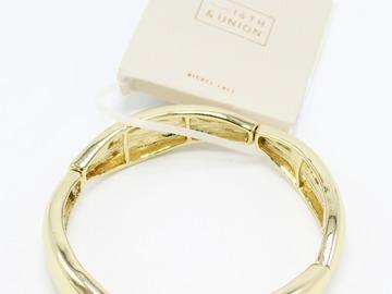 Liquidation/Wholesale Lot: Dozen New 14th & Union Gold Stretch Bracelets from Nordstrom Rack