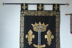 Verkaufen: Bannière Etendard de Sainte Jeanne d'Arc Fleur de Lys