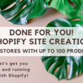 Offering online services: Build me a Shopify Site!